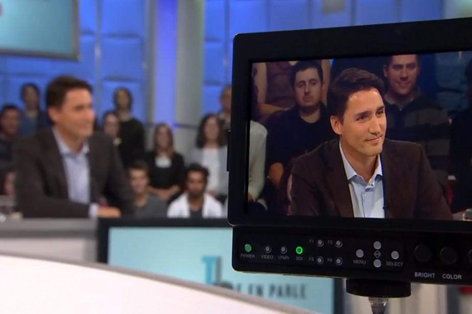 Justin Trudeau, lors de son passage à <em>Tout le monde en parle</em>, émission diffusée le 11 octobre. (PHOTO TIRÉE DU SITE DE RADIO-CANADA)