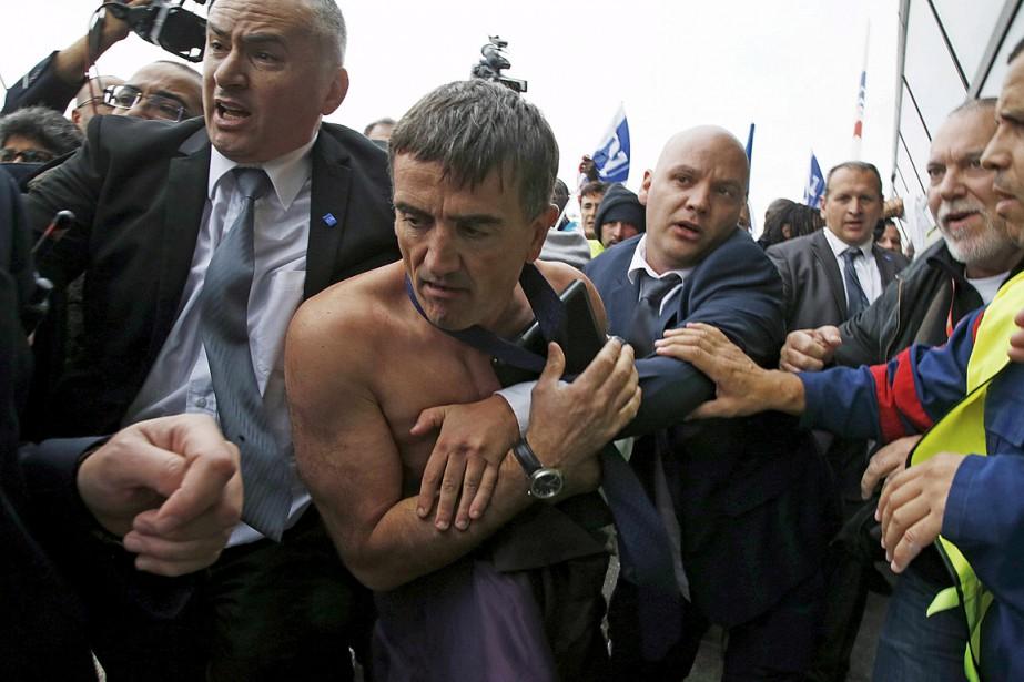 Le directeur des ressources humaines d'Air France, Xavier... (Photo Jacky Naegelen, Reuters)