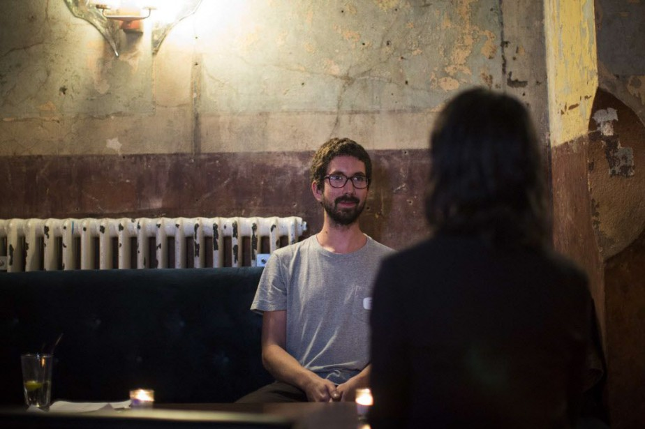 La soirée, baptisée «Shhh dating», soit littéralement «Rencontre... (Photo JACK TAYLOR, AFP)