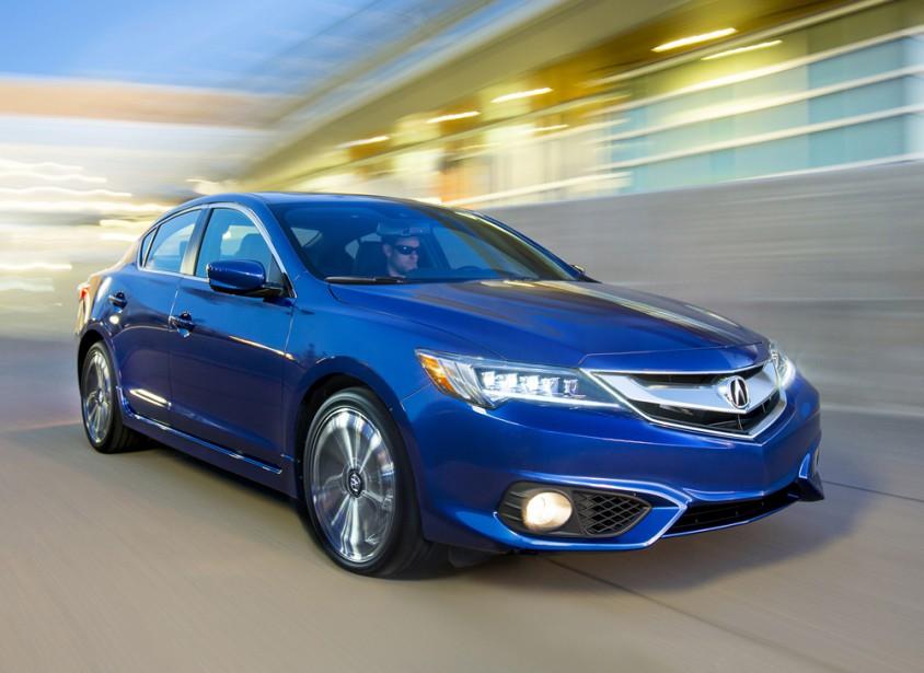 <strong>Acura ILX - À partir de 34 990 $</strong> La berline d'entrée de gamme d'Acura fait l'objet d'une refonte, que ses grandes soeurs TLX et RLX avaient déjà subie. (Photo fournie par Acura)
