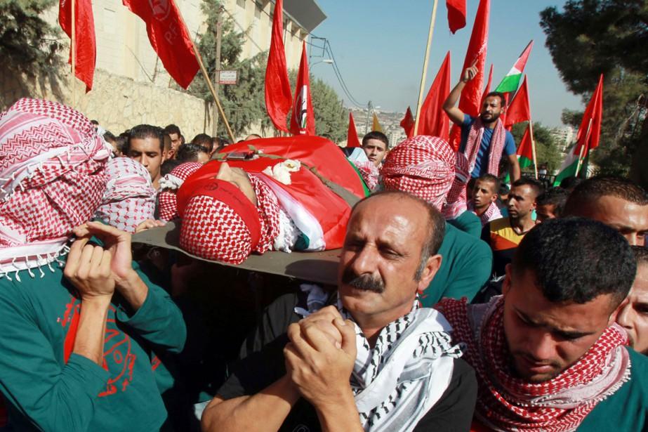 Moataz Zawahara, un Palestinien de 28 ans tué... (PHOTO MUSA AL-SHAER, AFP)