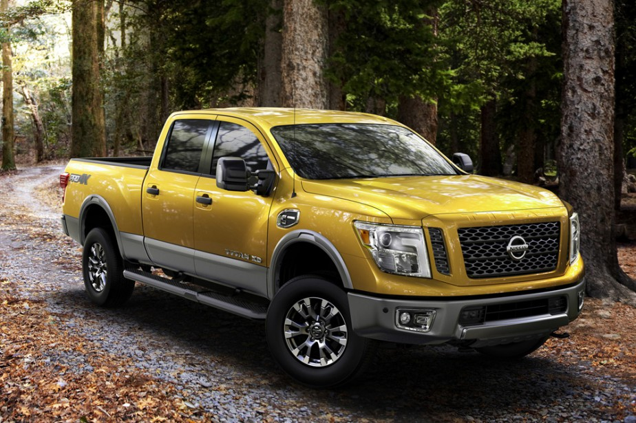 <strong>Nissan Titan XD — Prix non dévoilé</strong> Nissan essaie de se démarquer dans ce marché du camion dominé par Ford, GMC/Chevrolet et Ram. Le Titan XD propose des cabines double, King Cab ou simple. (Photo fournie par Nissan)