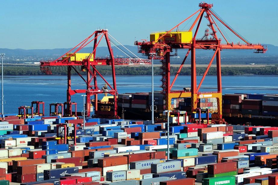 Des installations d'Asciano au port de Brisbane, en... (Photo archives Bloomberg)