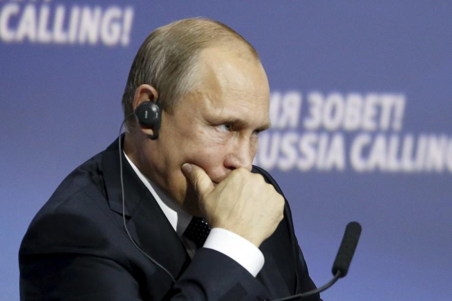 Le président russe, Vladimir Poutine... (PHOTO Sergei Karpukhin, Reuters)