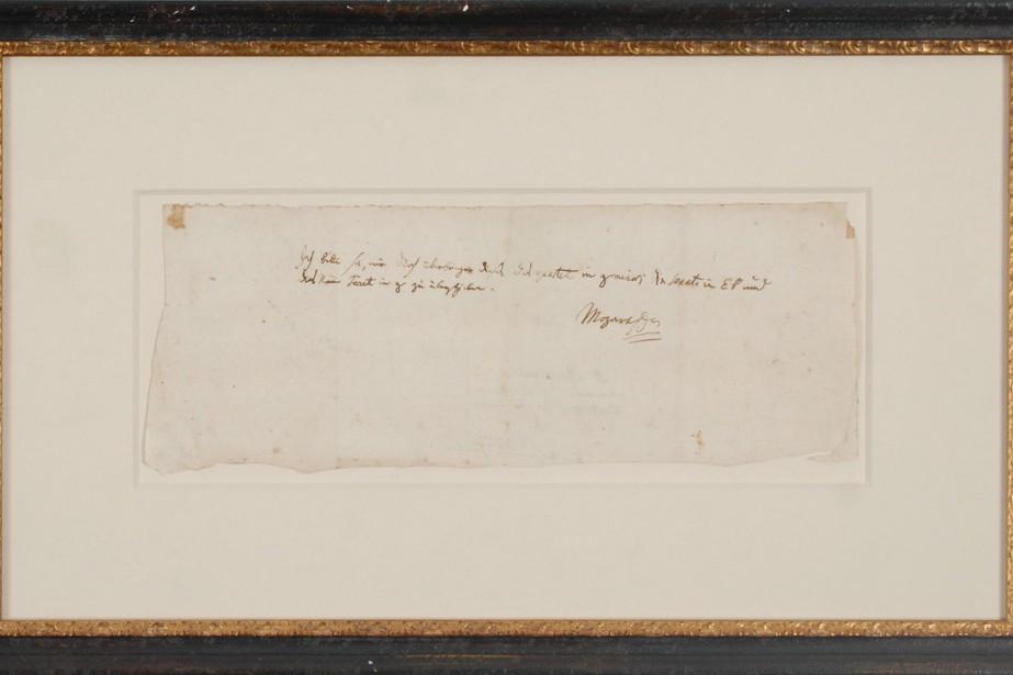 Une lettre écrite par Mozart à un ami autrichien, botaniste... (PHOTO AFP)