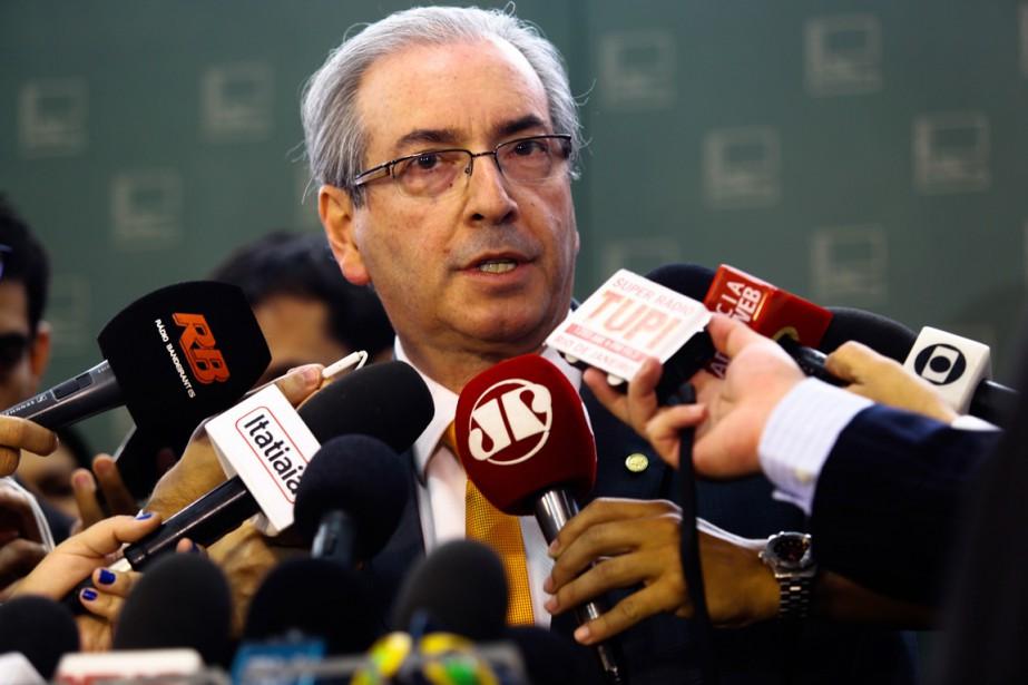 C'est à Eduardo Cunha, désormais accusé de détourné... (Photo ANDRESSA ANHOLETE, archives AFP)