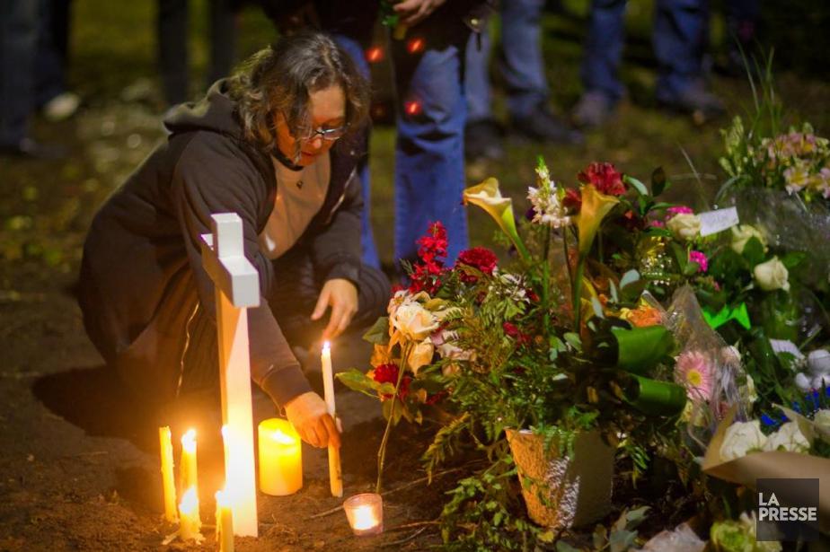 Depuis le soir du meurtre, Monique Dalcourt retourne... (PHOTO ANDRÉ PICHETTE, ARCHIVES LA PRESSE)