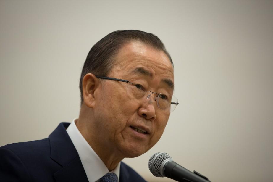 Le secrétaire général de l'ONU, Ban Ki-moon... (PHOTO ARCHIVES AP)