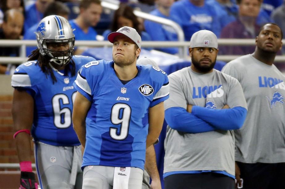 Les Lions de Detroit ont montré un dossier... (Photo Paul Sancya, AP)