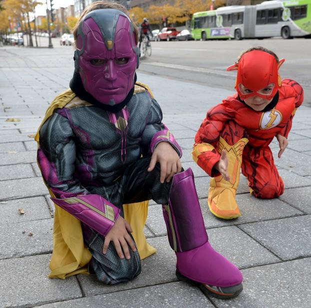 Vision et le Flash, des superhéros en devenir (Le Soleil, Erick Labbé)