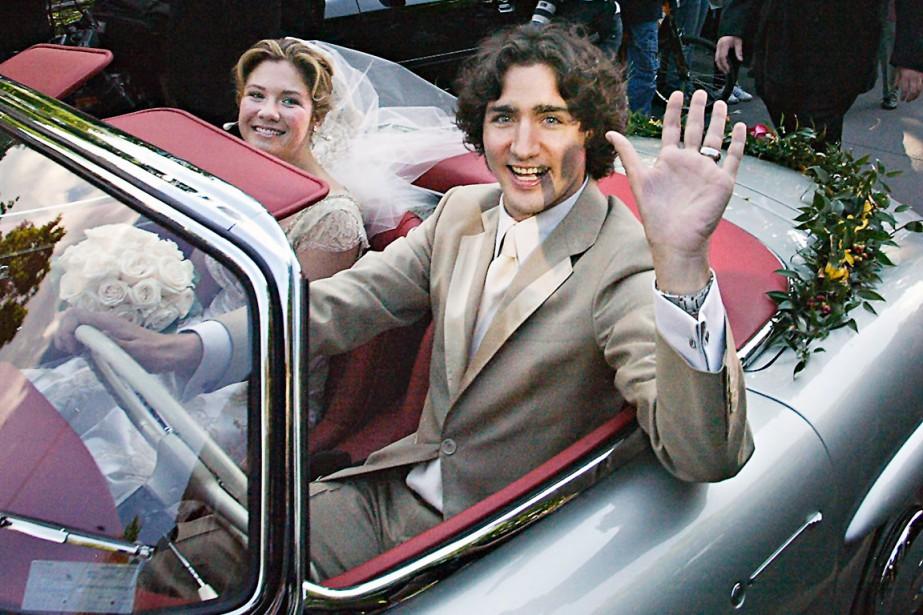 Mai 2005 Justin unit sa destinée à l'ex-animatrice Sophie Grégoire à l'église Sainte-Madeleine d'Outremont. Ils ont trois enfants, Xavier, Ella-Grace et Hadrien né en février 2014. (Photothèque Le Soleil)