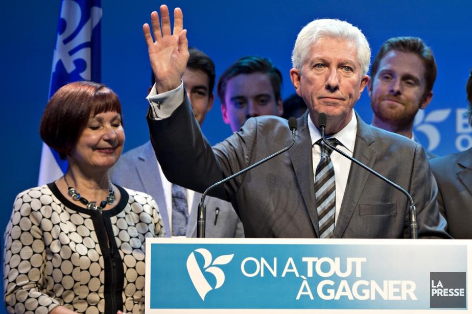 Durant son brefdiscours de sept minutes, Gilles Duceppe... (Photo Olivier Jean, La Presse)