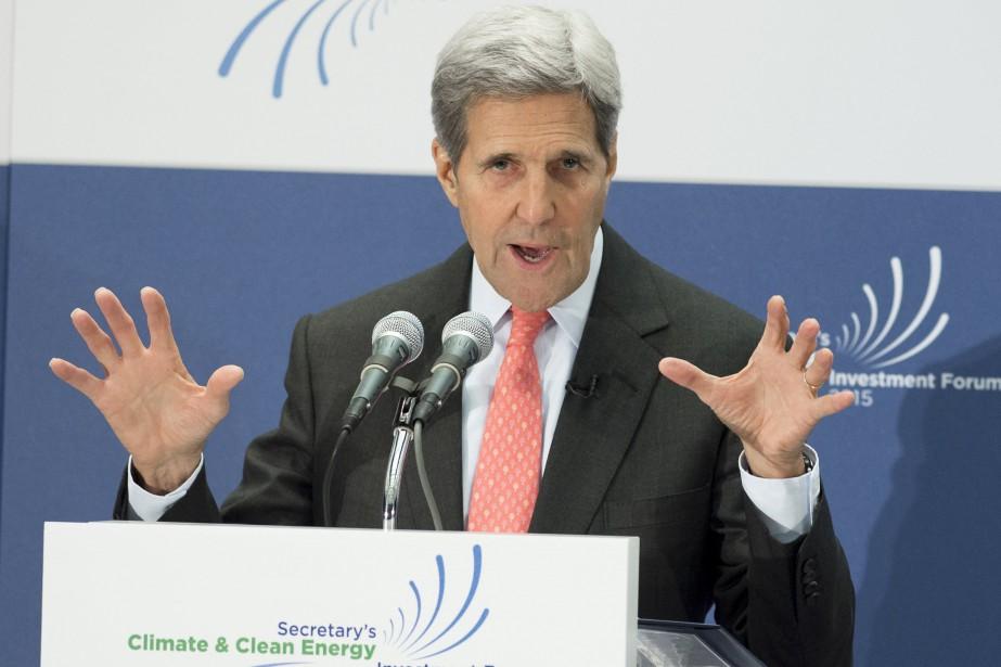 Le secrétaire d'État des États-Unis, John Kerry... (PHOTO SAUL LOEB, AFP)