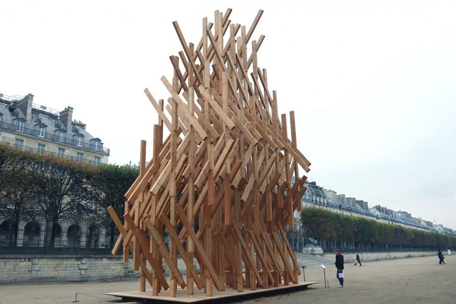 La sculpture Yure Pavilion de l'architecte japonais Kengo... (PHOTO AP)