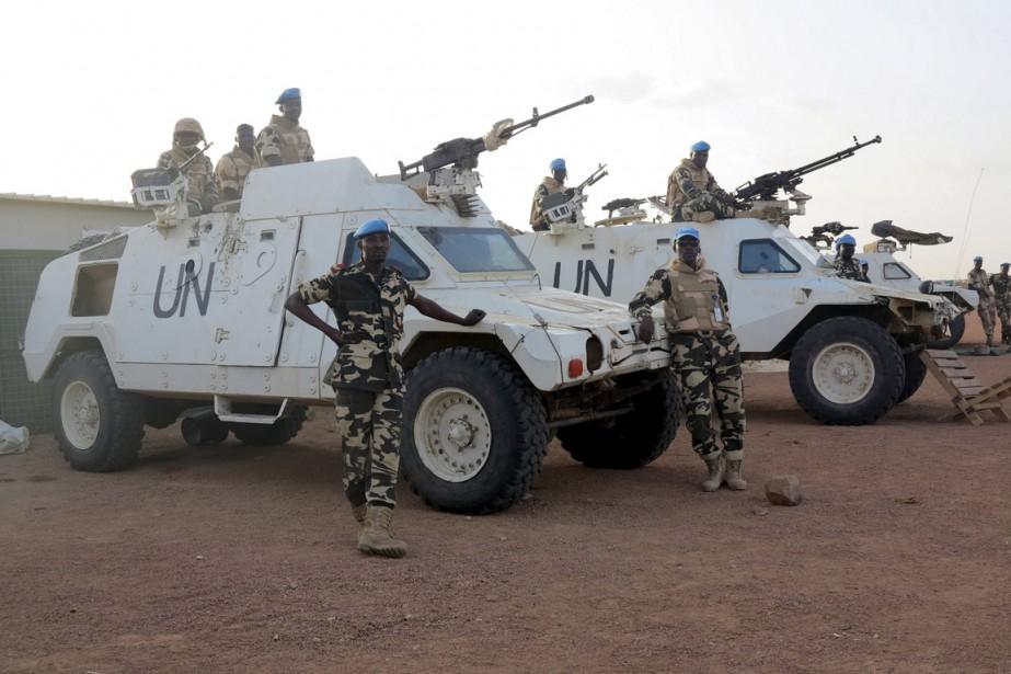Des casques bleus chadiens de la Minusma à... (Photo Adama Diarra, archives Reuters)