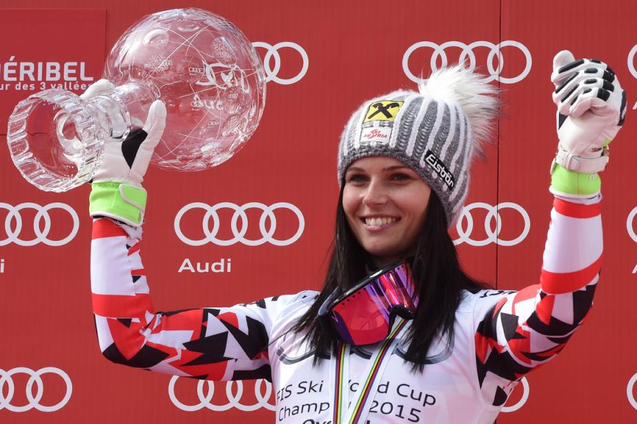 La skieuse autrichienne Anna Fenningera remporté son deuxième... (Photo Philippe Desmazes, archives AFP)