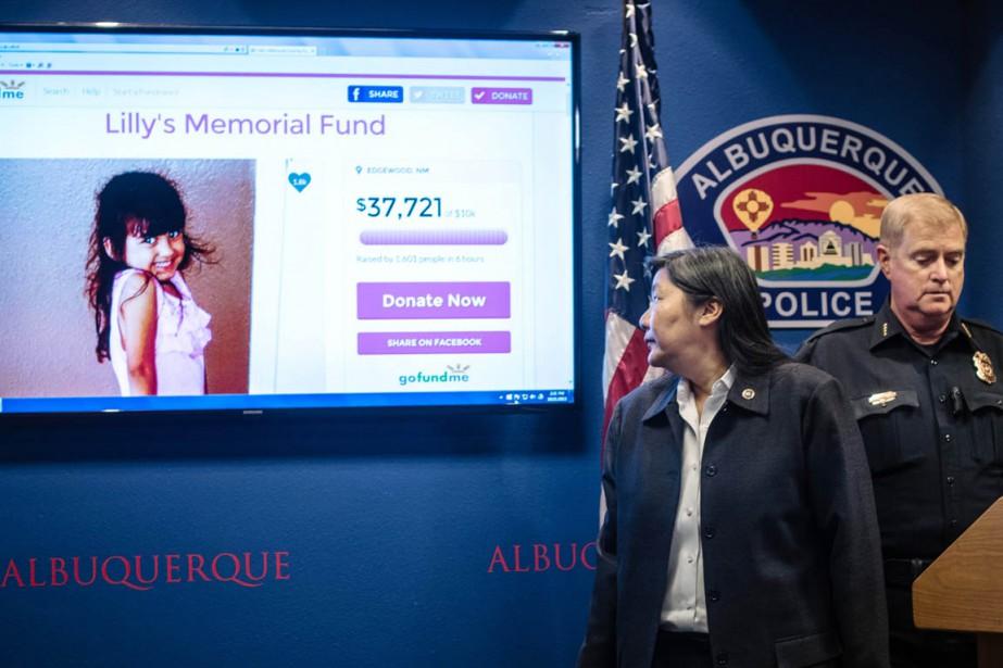La petite Lilly Garcia a été tuée d'une... (PHOTO ROBERTO E. ROSALES, THE ALBUQUERQUE JOURNAL/AP)