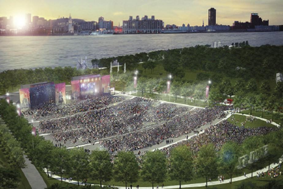 L'amphithéâtre aura une capacité de 65000 places. Il... (IMAGE FOURNIE PAR LA VILLE DE MONTRÉAL)