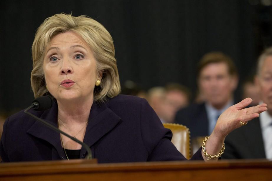 L'ex-secrétaire d'État démocrate Hillary Clinton a passé hier... (PHOTO JACQUELYN MARTIN, AP)