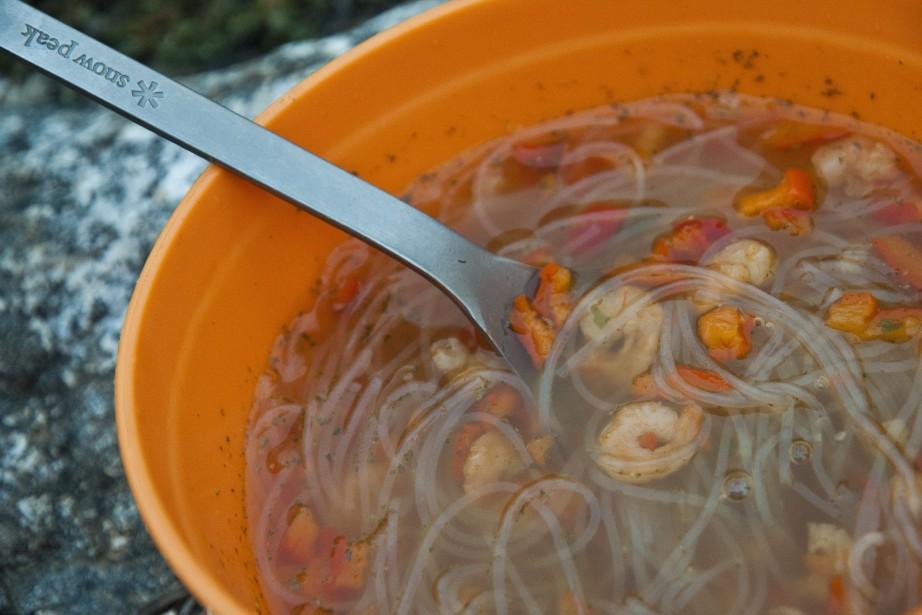 Une soupe orientale à base de crevettes, de... (Photo Marie-Soleil Desautels, La Presse)
