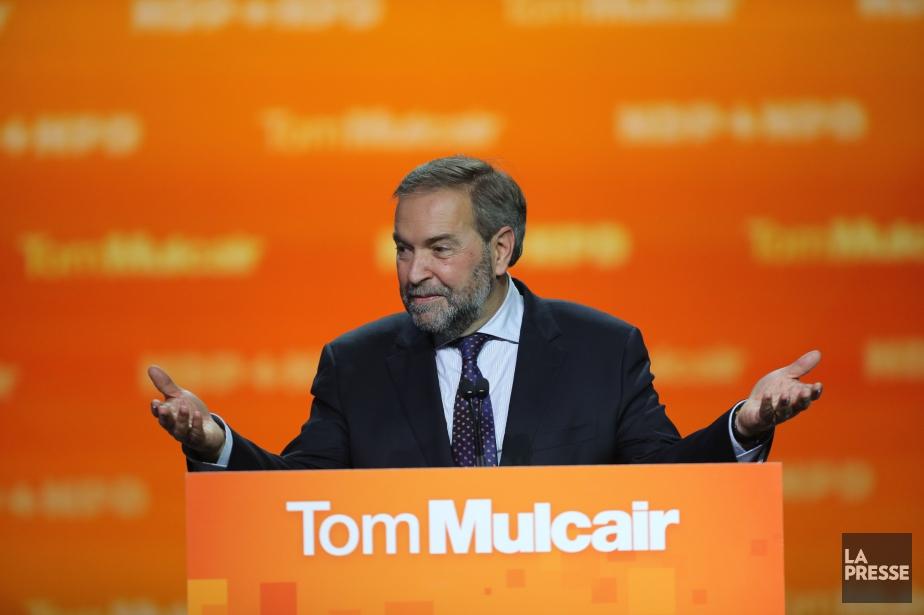 Le chef du NPD, Thomas Mulcair, lors de... (Photo André Pichette, La Presse)