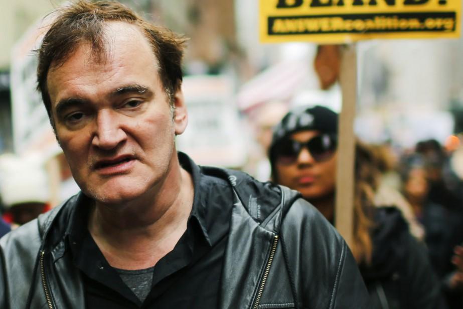 Quentin Tarantino lors d'une marche contre la brutalité... (PHOTO ARCHIVES AFP)