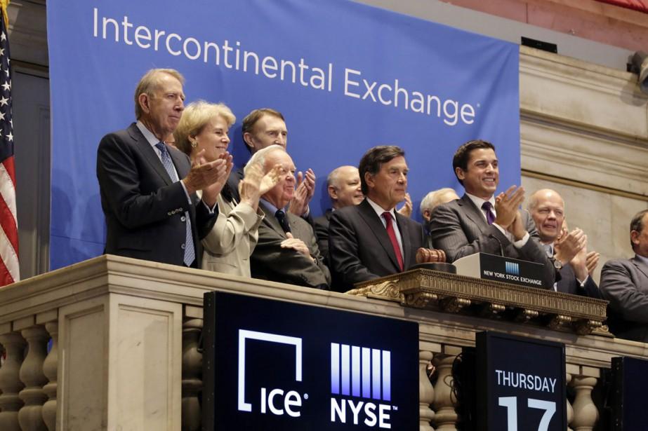 Intercontinental Exchangegère notamment la Bourse de New York... (Photo Richard Drew, AP)