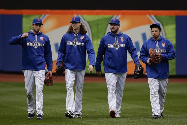 De gauche à droite, les lanceurs Steven Matz,... (PHOTO AP)