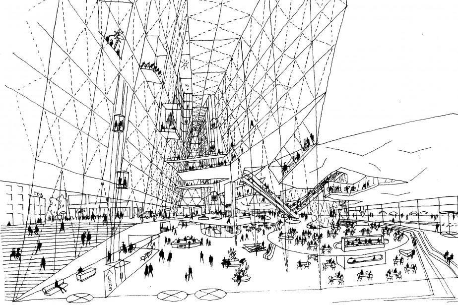 À quoi ressemblerait Montréal si des projets... (Photo fournie par l'exposition)