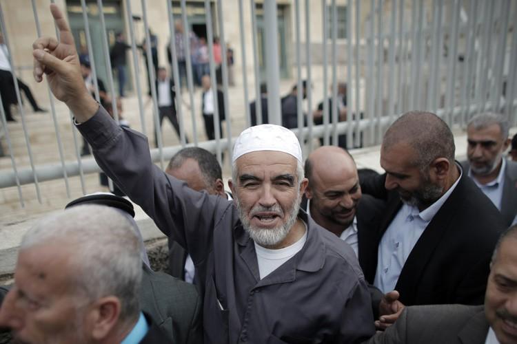 Cheikh Raëd Salah, chef du «Mouvement islamique -... (PHOTO AFP)