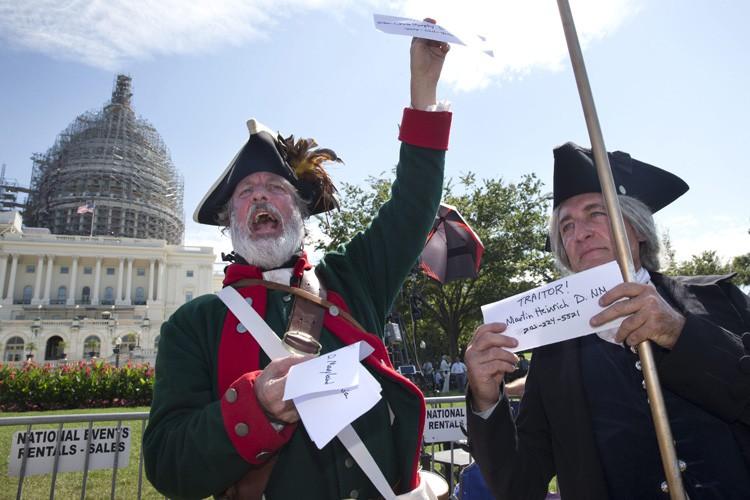 Le Tea Party était furieux mardi de découvrir... (ARCHIVES AP)