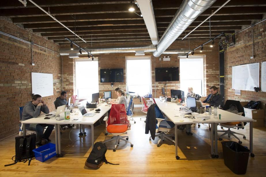 Jusqu'à 500 jeunes entreprises en technologie... (Photo archives Bloomberg)