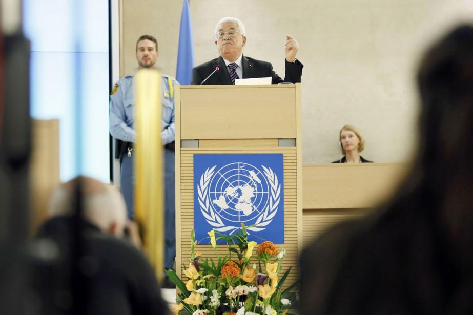 Le président Mahmoud Abbas s'exprimait lors d'une réunion... (PHOTO PIERRE ALBOUY, REUTERS)