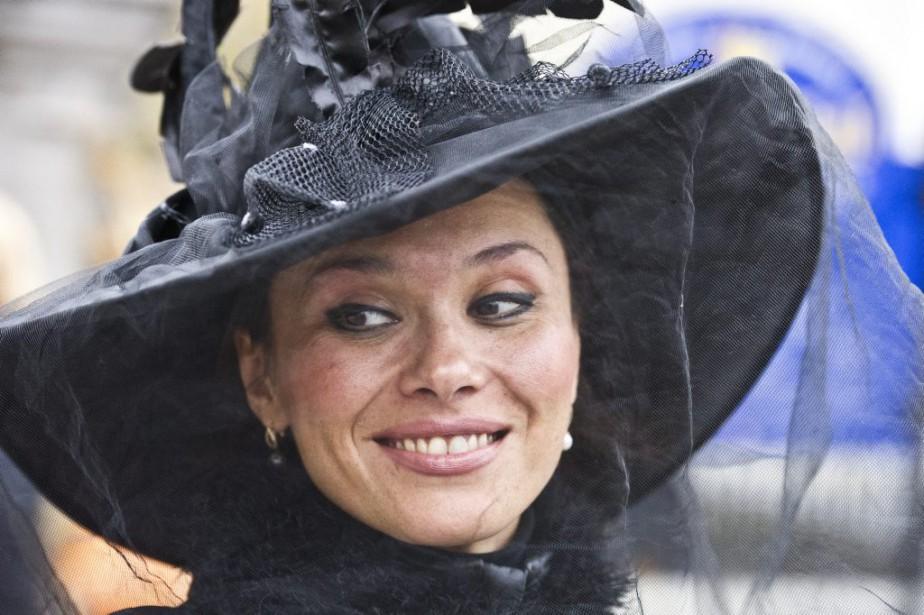 Olesia Shevchenko s'est déguisée en sorcière. (Martin Roy, LeDroit)