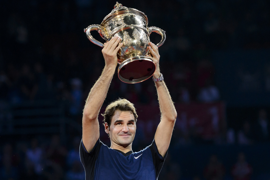 Roger Federer a remporté le tournoi de Bâle,... (Photo Fabrice Coffrini, AFP)