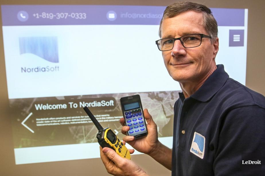 Claude Belisle, chef de l'exploitation de Nordia Soft.... (PHOTO PATRICK WOODBURY, LE DROIT)