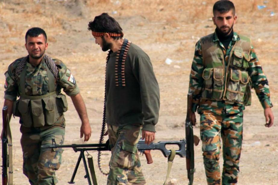 Des soldats de l'armée syrienne ont briséle siège... (PHOTO AL-ARABY/GETTY IMAGES)