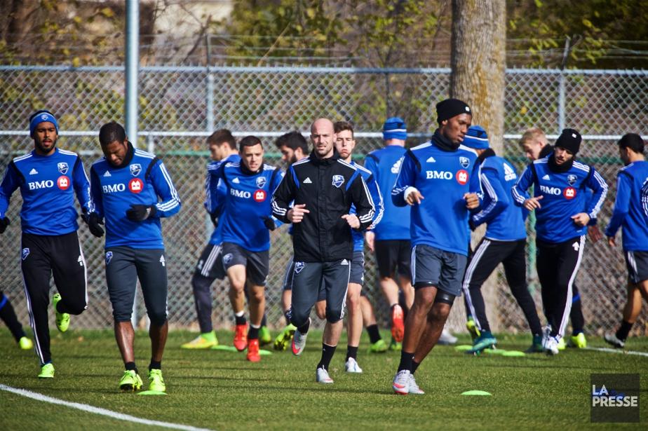 Les joueurs de l'Impact étaient de retour à... (Photo André Pichette, La Presse)