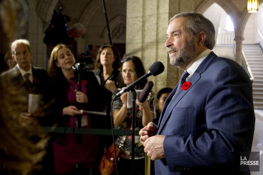 Dans son discours auquel les journalistes ont pu... (PHOTO DAVID BOILY, LA PRESSE)