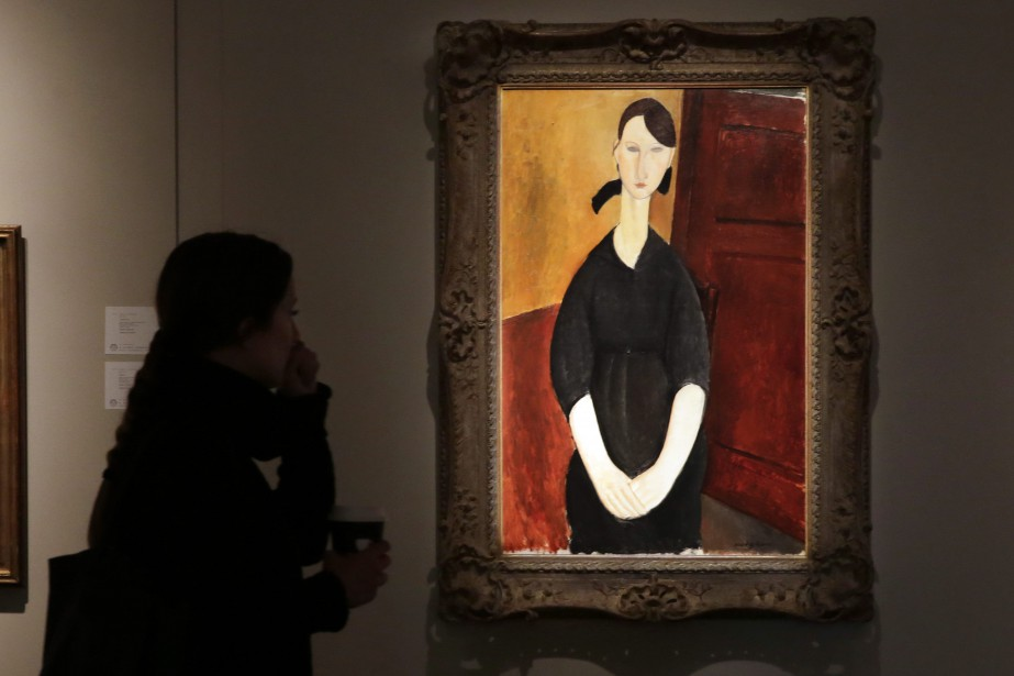 Le tableau Paulette Jourdain, initialement estimé à 25... (PHOTO RICHARD DREW, ASSOCIATED PRESS)