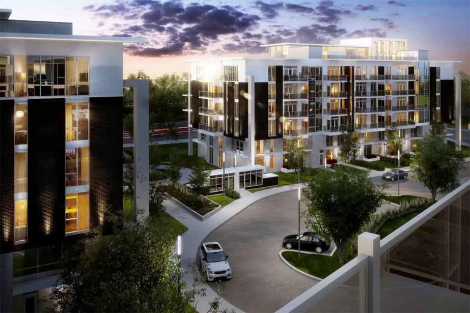 Chacun des édifices du complexe comportera 54 appartements... (ILLUSTRATION FOURNIE PAR TLA ARCHITECTES)