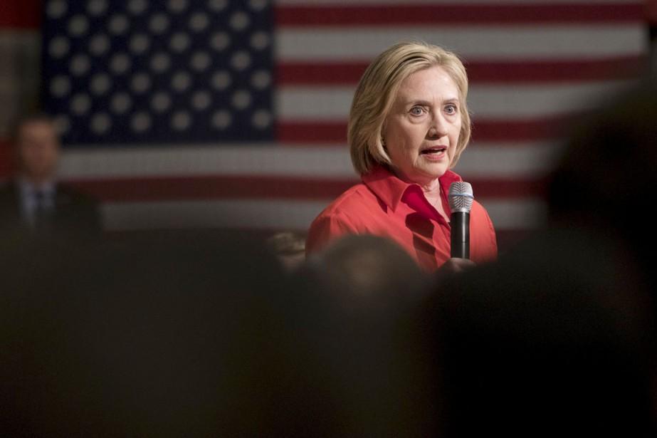 La tribune d'Hillary Clinton contraste avec les relations... (PHOTO SCOTT MORGAN, ARCHIVES REUTERS)