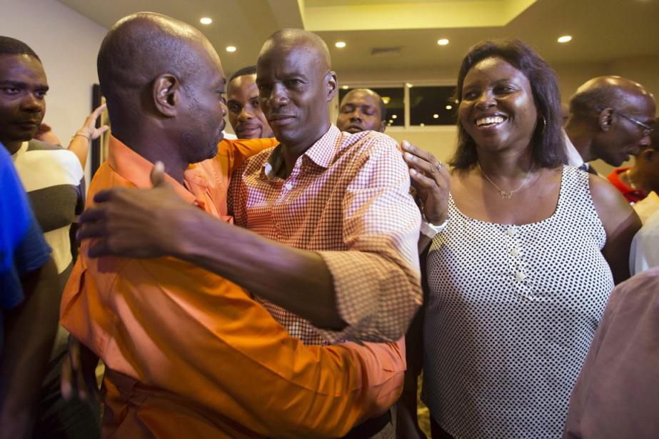 Le candidat à la présidentielle Jovenel Moise, au... (Photo Dieu Nalio Chery, AP)
