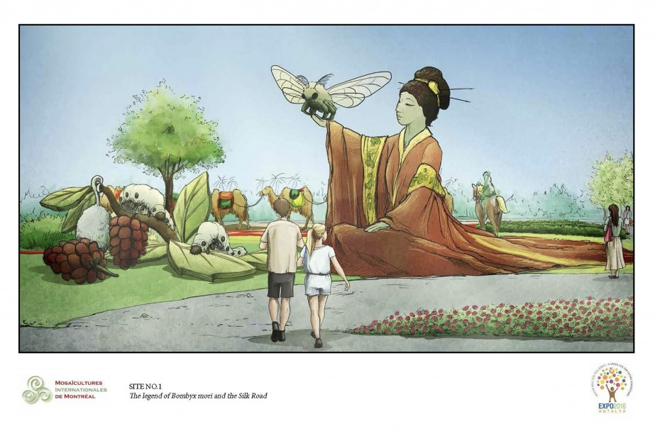 Esquisse d'une oeuvre qui sera présentée aux Floralies internationales d'Antalya. (Courtoisie)