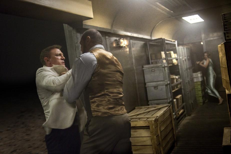 Daniel Craig et Dave Bautista (Fournie par Columbia Pictures)