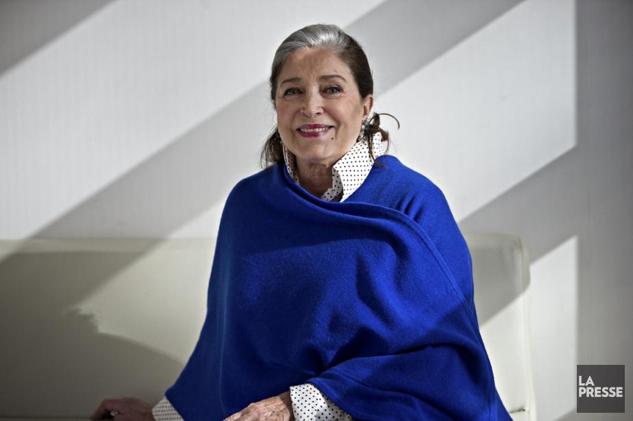 L'actrice française Françoise Fabian est de passage au... (Photo Patrick SANFACON, La Presse)