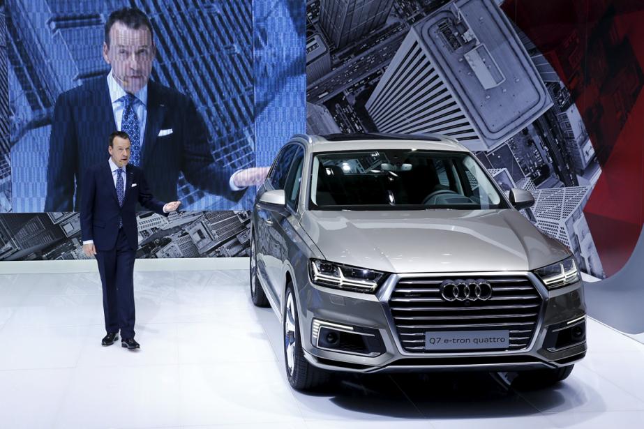 La Q7 e-tron d'Audi, à motorisation hybride diesel,... (Photo Thomas Peter, archives Reuters)