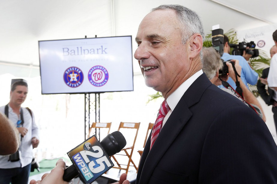 Le commissaire du baseball majeur, Rob Manfred.... (AP, Steve Mitchell)