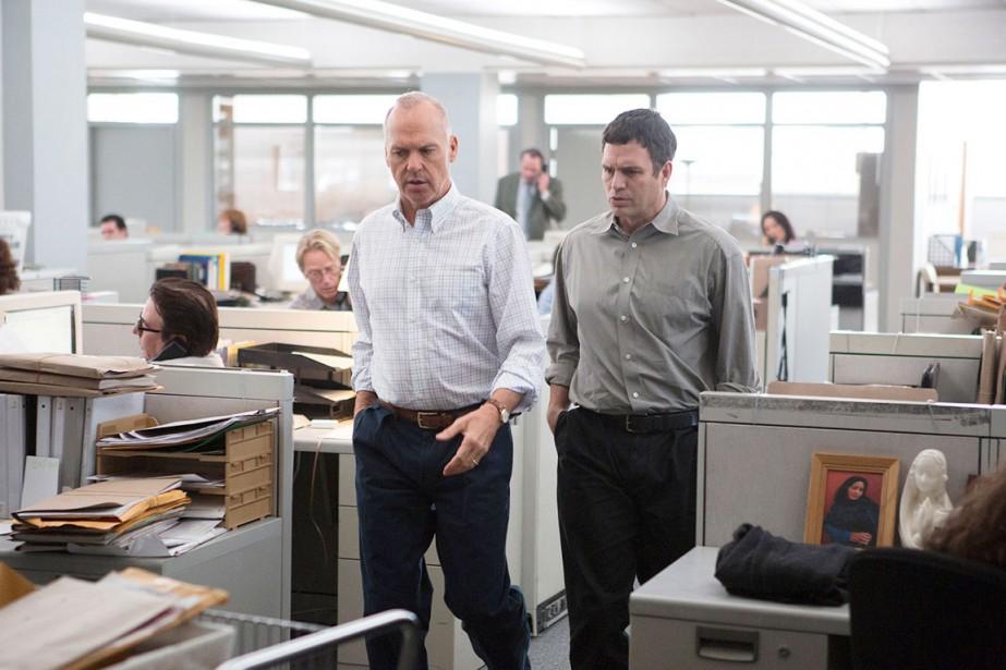 Michael Keaton et Mark Ruffalo dans Spotlight.... (PHOTO FOURNIE PAR OPEN ROAD FILMS)