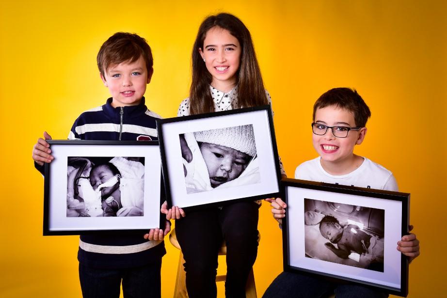 Les trois enfants de la famille Labbé sont nés prématurément. Maxence, 7 ans, est né à 33 semaines, Mathilde, 10 ans et demi, à 35 semaines et Édouard, 8 ans et demi, à 34 semaines. ()